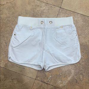 EM off white linen/cotton blend shorts in S
